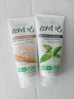 Lot Of 2 St. Ives Oatmeal & Green Tea Face Scrub and Mask, F