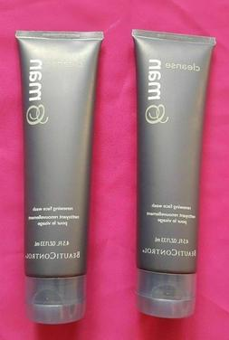 Beauticontrol Man Cleanse Renewing Face Wash {Lot of 2} 4.5o