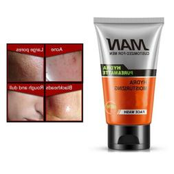Men Scrub Facial Cleanser Moisturizing Whitening Skin Face W