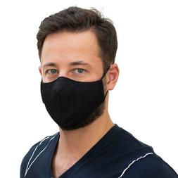 NEW Black protection face mask Antimicrobial reusable machin