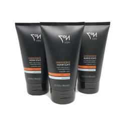 New No7 Men Energizing Set 3 - 2 Face Wash and 1 Face Scrub