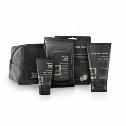 Every Man Jack Oil Defense Face Set: Lotion, Wash, Wipes + B