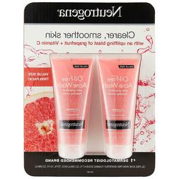 Neutrogena Oil-Free Pink Grapefruit Exfoliating Acne Face Wa