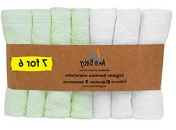 Premium Organic Rayon from Bamboo Washcloths 7 Pack- Hypoall