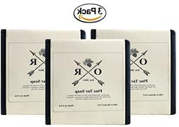 Oliver Rocket Pine Tar Soap  - 5 ounces each - Mens Face and