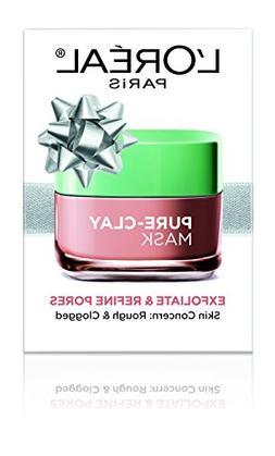 L'Oreal Paris Skin Care Pure Clay Mask for Holiday, Exfoliat