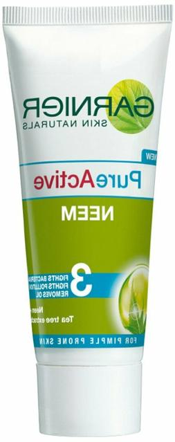 Garnier Skin Naturals Pure Active Neem Face Wash, 100g