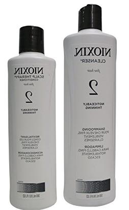 Nioxin System 2 DUO 16.9oz Cleanser & 10.1oz Scalp Therapy C