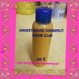 Tumeric Brightening Face Wash Liquid, Dark spots, Dry Skin,