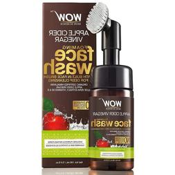 WOW Apple Cider Vinegar Face Wash With Brush - Reduce Acne,